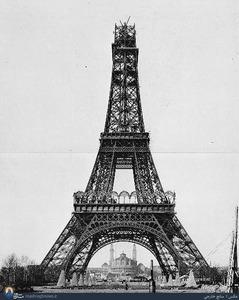 مراحل ساخت برج ایفل به روایت تصویر