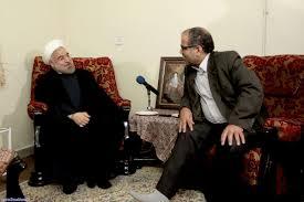دیدار صمیمی روحانی با جانباز 70 درصد