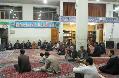 گرامیداشت حماسه 9 دی در مسجد امام زمان (عج) دولت آباد +تصاویر