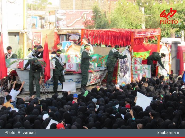 دولت آباد، قدمگاه یاران شهید خرازی شد +تصاویر - چشم برخوار