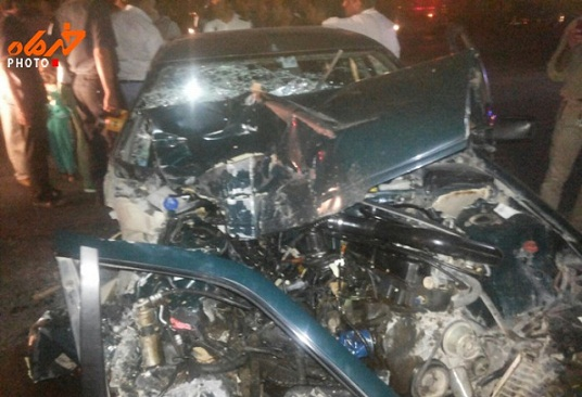 جاده حبیب آباد، تصادف دیگری را رقم زد +تصاویر