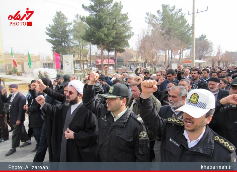 راهپیمایی محکومیت شهادت آیت الله نمر در دولت آباد برگزار شد/تصاویر