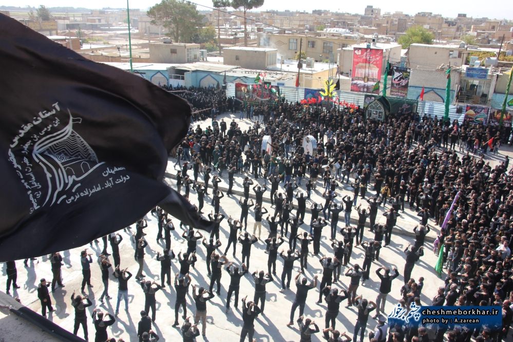 حال و هوای برخوار در تاسوعای حسینی +تصاویر