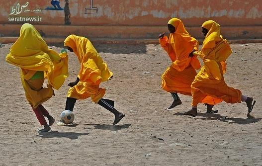 تصاویر/ فوتبال دختران در سومالی