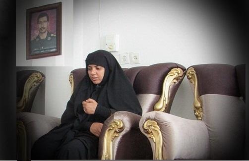آخرین دیدار شهید مرتضی زارع با همسرش/ عکس