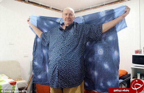 مردی که بیش از 100 کیلو لاغر کرد +تصاویر