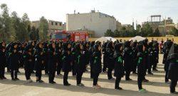 اجرای نمادین مانور سراسری زلزله و ایمنی در هنرستان نور دولت آباد/ تصاویر