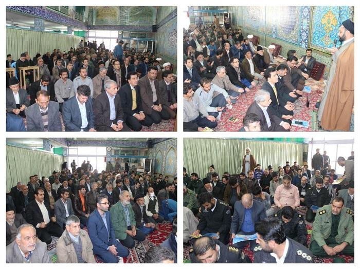 حضور باشکوه مردم و مسئولان در نماز وحدت شهرستان/تصاویر