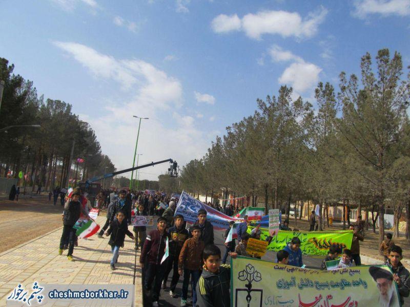 حماسه حضور مردم بخش حبیب آباد در راهپیمایی 22بهمن/ تصاویر
