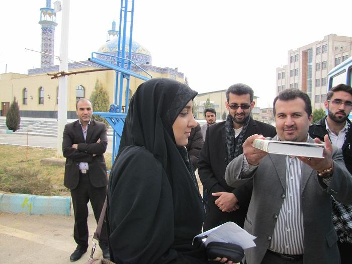 دانشجویان دختر دانشگاه های پیام نور و آزاد برخوار، زائر کربلای ایران شدند+ تصاویر