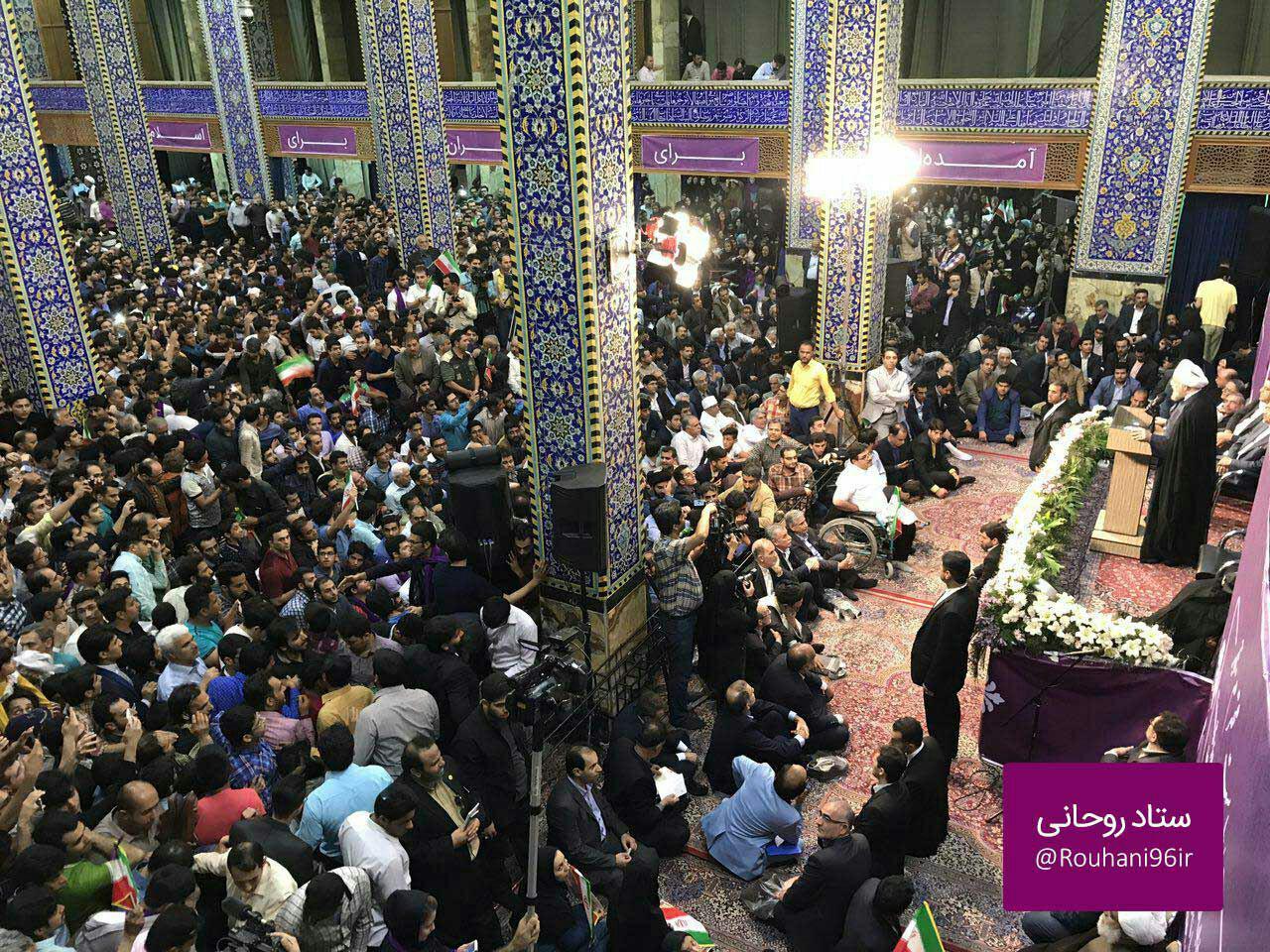 روحانی در یزد: اینجا شهر برادرعزیزم خاتمی است/شعار مردم درباره حصر+فیلم و تصاویر