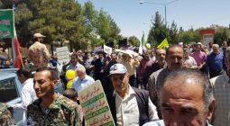 شکوه حضور مردم خورزوق در راهپیمایی روز قدس/ تصاویر