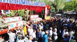 سنگ تمام مردم برخوار در تشییع شهدای دفاع مقدس/ تصاویر