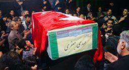 مجالس عزاداری نرمی و محسن آباد معطر به قدوم شهید مدافع حرم شد /تصاویر