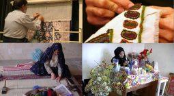 برپایی نمایشگاه مشاغل خانگی شهرستان برخوار در شهر کمشچه