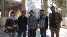 حضور گردشگران چینی در مراسم عزاداری امروز در دولت آباد/عکس شهروندی