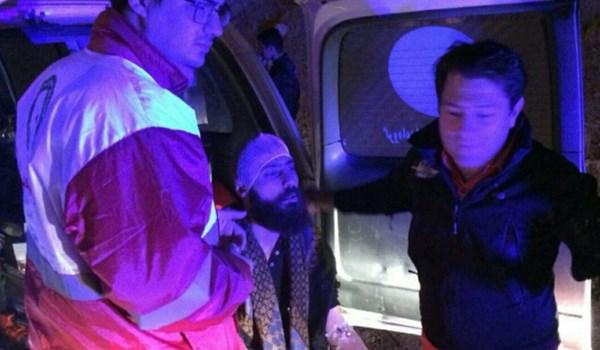 مینیبوس زائران اربعین در محور کرمانشاه ـ ماهیدشت واژگون شد