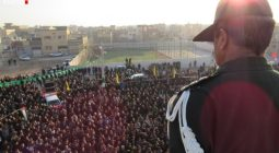 تصاویر تشییع پیکر پاک شهید مرتضی زارع در خورزوق