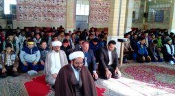 مراسم جشن تکلیف دانش آموزان مدارس خوارزمی و پانزده خرداد شهر دستگرد/ تصاویر