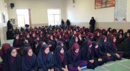 حضور دانش آموزان شاپورآباد پای سخنان آزاده سرافراز این شهر+ تصاویر