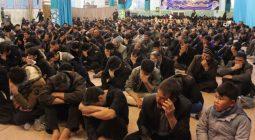 سوگواری مردم شهرستان برخوار زیر بیرق فاطمی/ تصاویر