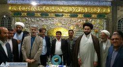 مراسم رونمایی ضریح مطهر امامزاده ابوالحسن (ع) شهرکمشچه /تصاویر