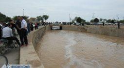 سیلاب زمان آباد نرمی به خروش درآمد/تصاویر