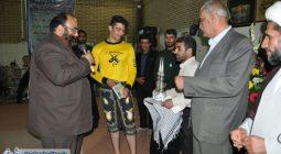 مراسم تجلیل از ورزشکاران شهر سین با حضور مادر شهید خرازی /تصاویر