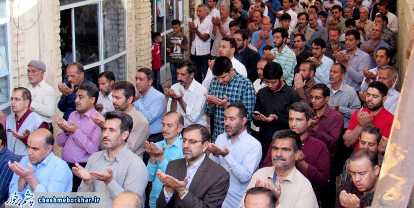 نجوای بندگی در عید سعید فطر در دولت آباد برخوار طنین انداز شد /تصاویر