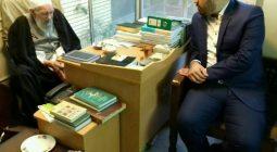 فرماندار جدید برخوار به دیدار آیت الله ناصری دولت آبادی رفت