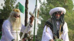حرکت قافله نمادین واقعه کربلا در دولت آباد برخوار/ تصاویر