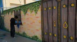 اجرای طرح شاداب سازی و زیباسازی مدارس توسط شهرداری سین+ تصاویر