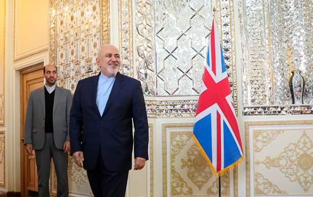 هول کردن ظریف برای دیدار با وزیر انگلیسی