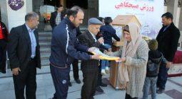 ورزش صبحگاهی مردم دولت آباد در قاب تصاویر