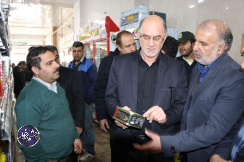 بازدید و نظارت سرپرست فرمانداری از وضعیت قیمت اجناس در برخوار +تصاویر