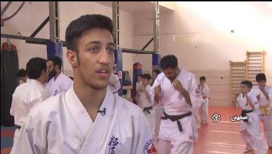 کاراته کای خورزوقی: هدفم قهرمانی جهان است +فیلم