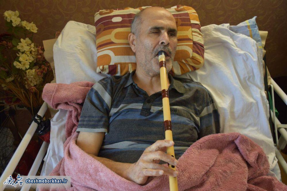 روایت جانباز «حسین عمویی سینی» / نابینایی مانع حضورم در جبهه شد+ تصاویر