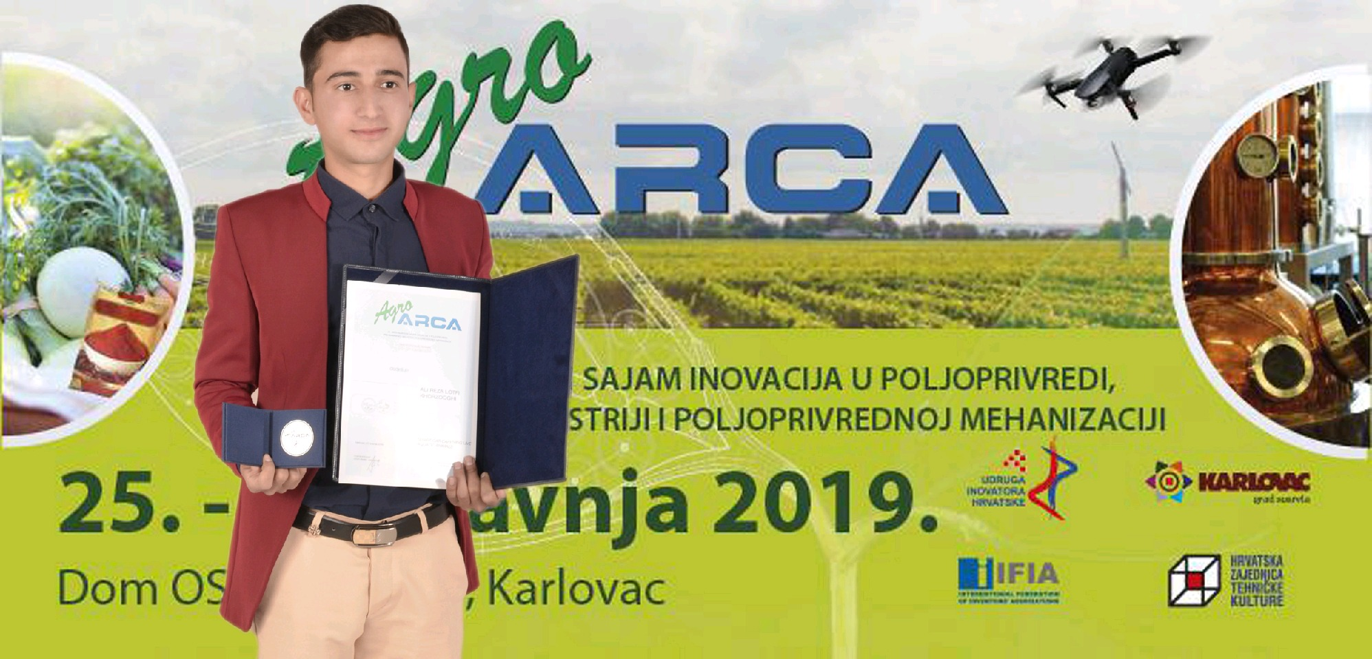 درخشش جوان خورزوقی در مسابقات اختراعات و نوآوری در زاگرب کرواسی/امیدی به حمایت و تولید انبوه ندارم
