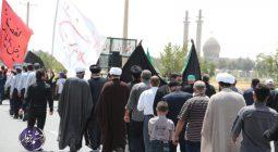 حرکت و تجمع عظیم مردم دولت آباد در سالروز شهادت امام صادق (ع) /تصاویر