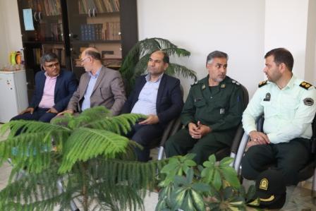 دیدار فرماندار برخوار با رئیس دادگستری و دادستان شهرستان |تصاویر
