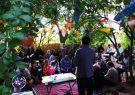جشن ۷سالگی کودک نوپای «چشم برخوار» در میان مردان و زنان بزرگ روستای شورچه