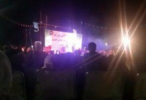 بی احترامی به شئونات مذهبی در برگزاری جشن های مذهبی در خورزوق+ فیلم