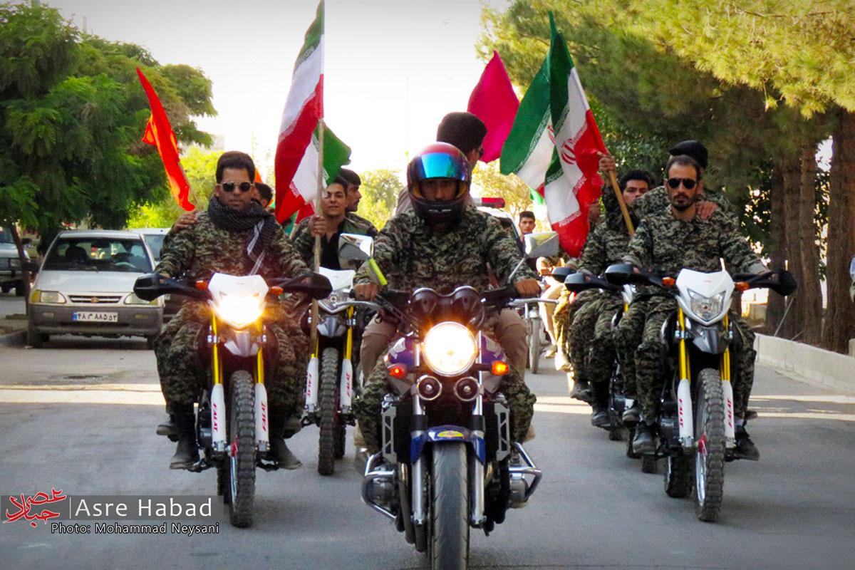 رژه موتوری بسیج حبیب آباد در هفته دفاع مقدس  تصاویر