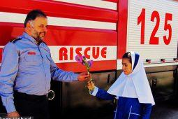 تصاویر | برگزاری مانور آتش نشانی در حبیب آباد