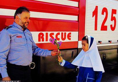 تصاویر   برگزاری مانور آتش نشانی در حبیب آباد