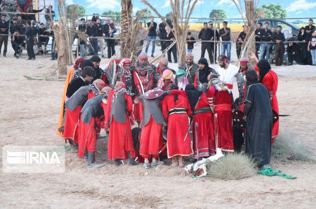 مراسم تعزیه واقعه کربلا در محسنآباد |تصاویر