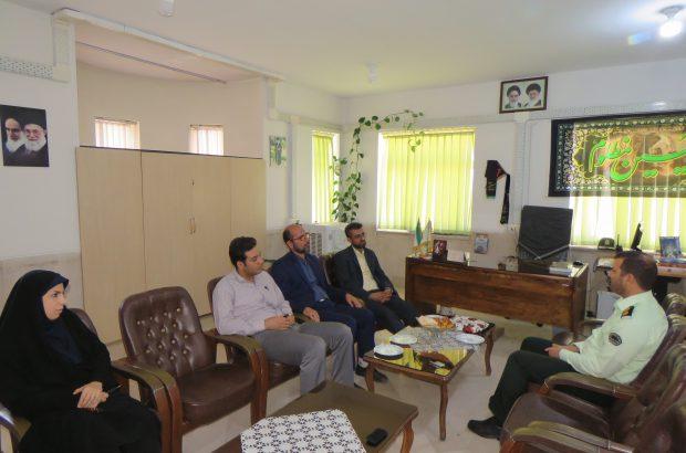 دیدار هیات رییسه دانشگاه آزاد دولت آباد با جانشین فرمانده انتظامی برخوار