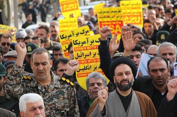 راهپیمایی مردم برخوار در حمایت از اقتدار نظام مقدس جمهوری اسلامی