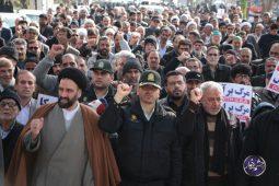 خروش مردم دولت آباد در حمایت از پاسداران اسلام و امنیت تصاویر