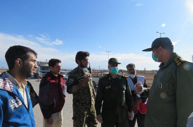 برپایی ایست و بازرسی در ورودی های شهرستان برخوار+تصاویر